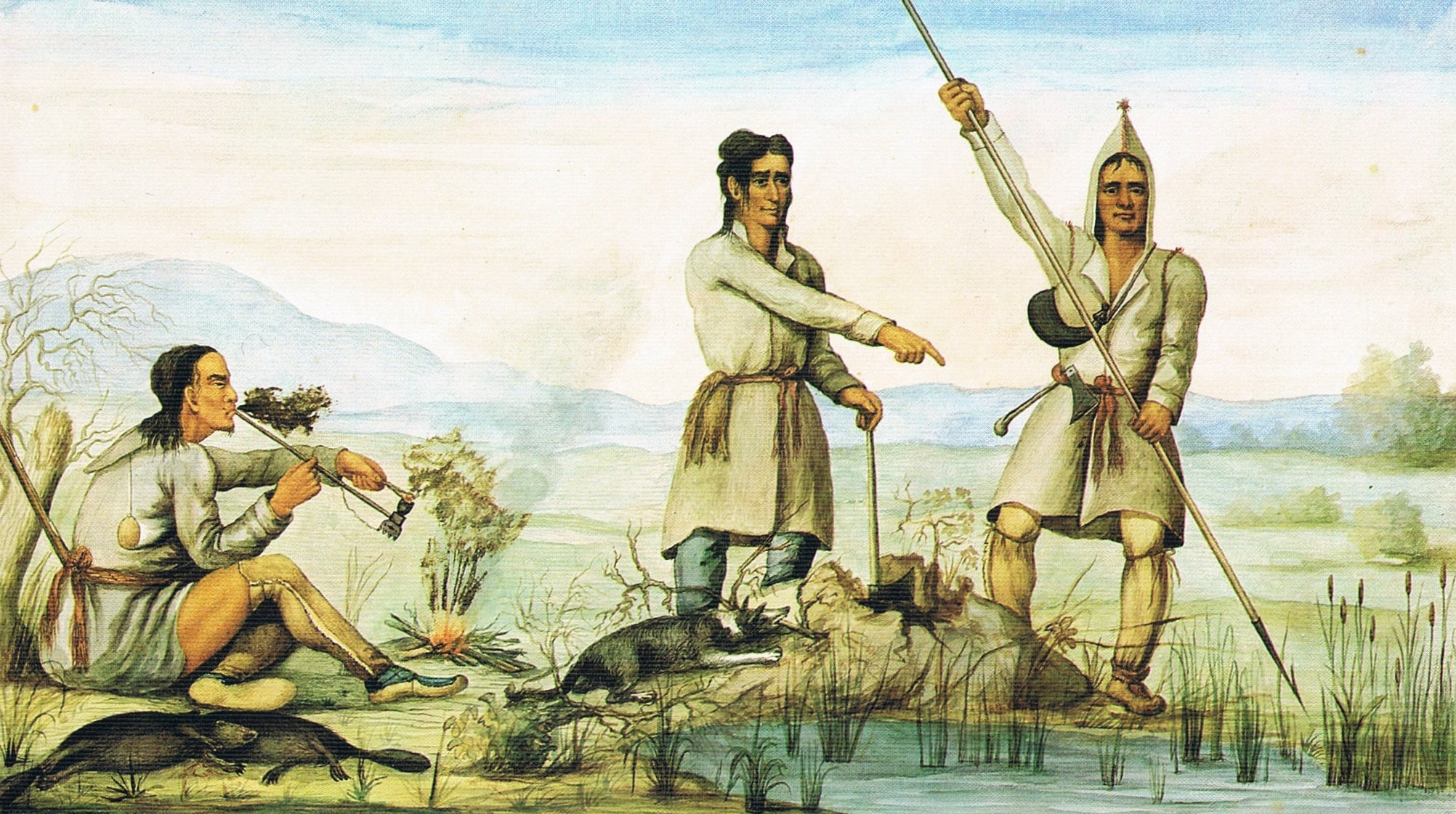 native american view of european settlers
