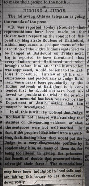 288px-Battleford_Hangings_-_Bias_of_the_Judge,_Article_from_the_Saskatchewan_Herald,_December_14th,_1885